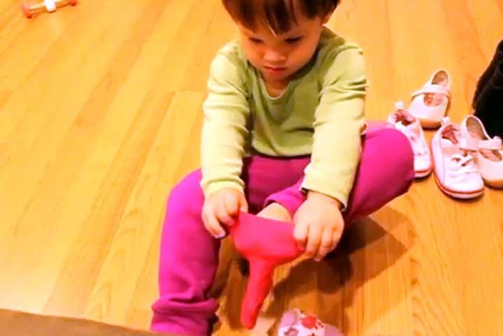 Brooke Puts On Socks