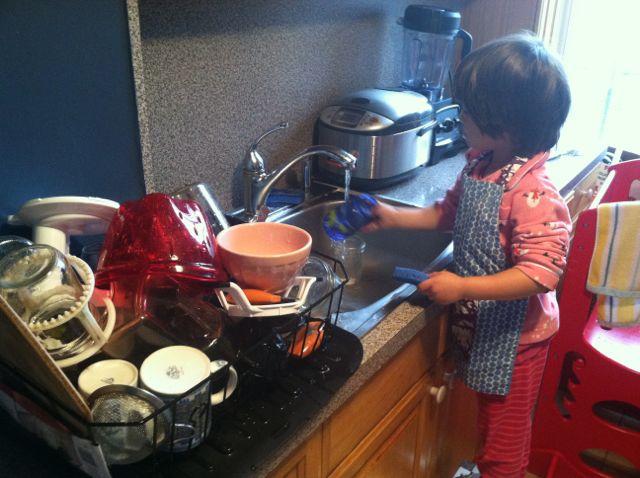 Brooke Washing Dishes